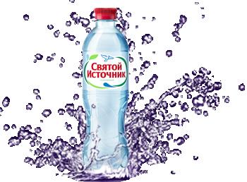 Вода <span>«Святой Источник»</span>, 0,5л (газированная/без газа)